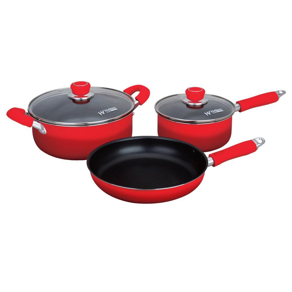 Bater a de cocina aluminio hudson valley 09 10016r rojo for Bazar de cocina